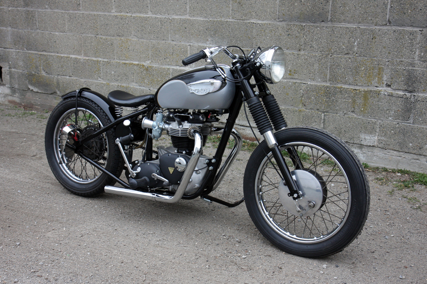 Moto Triumph Tr6 Bobber