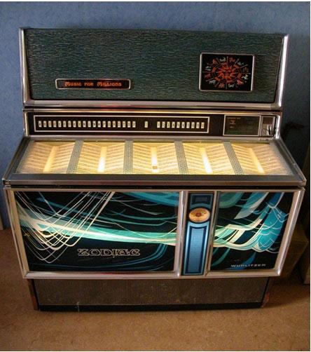 Maquina de discos antigua
