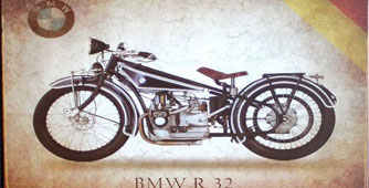 Cartel-moto-BMW-R32-metal